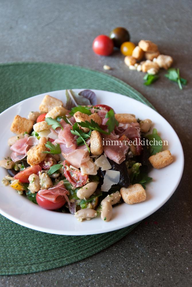 White bean and prosciutto salad