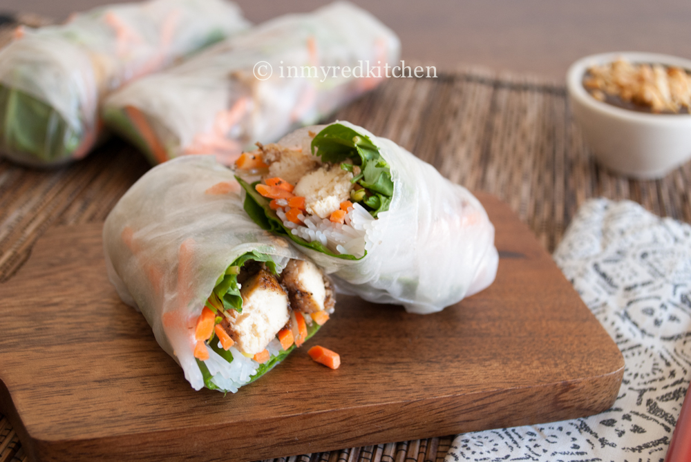 Vietnamese Spring Rolls With Black Pepper Tofu