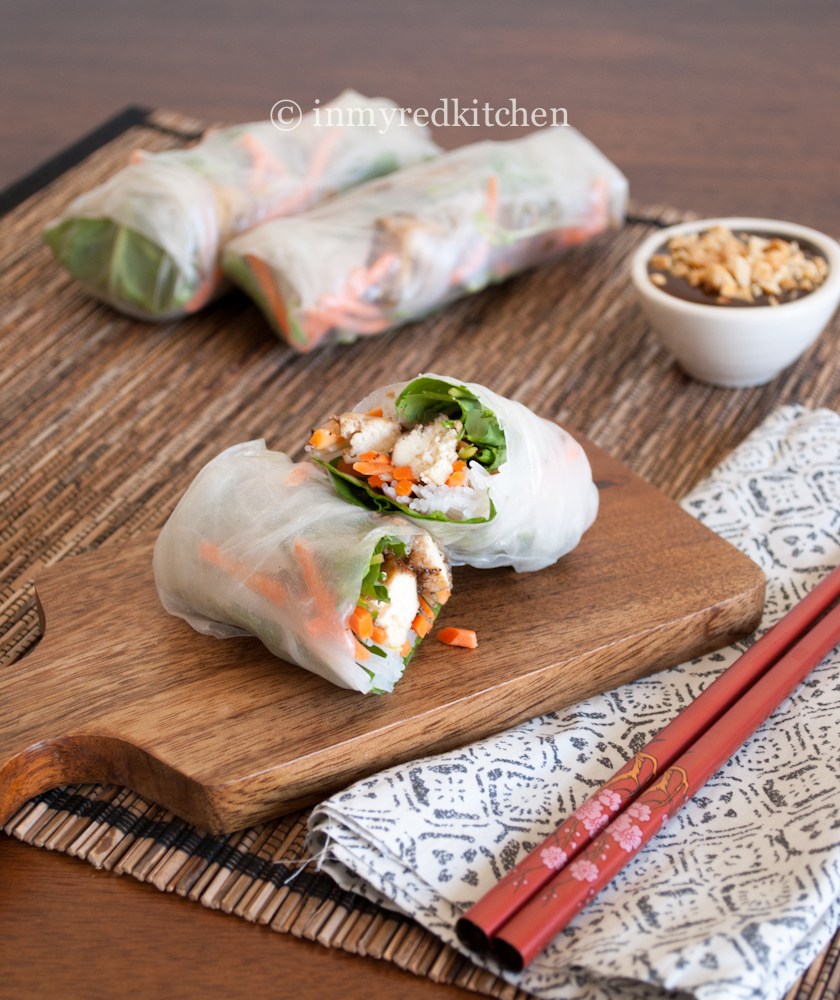 Vietnamese Spring Rolls With Black Pepper Tofu