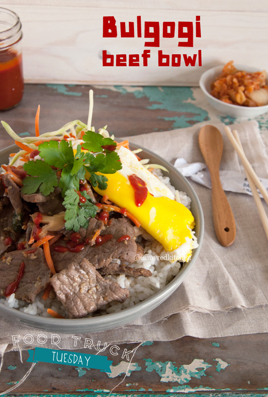 Bulgogi beef bowl, a quick weeknight meal! | in my Red Kitchen