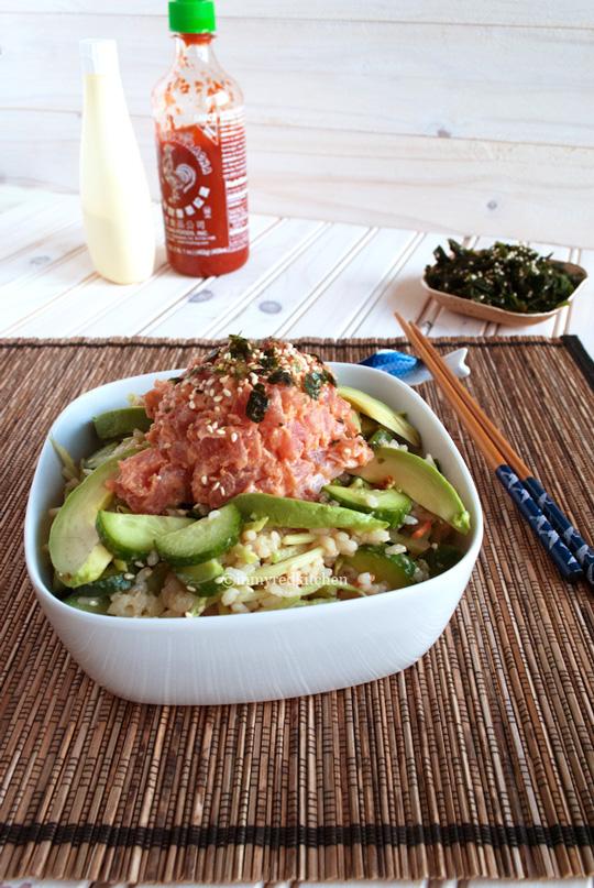 Spicy-tuna-and-cucumber-salad-3-inmyredkitchen