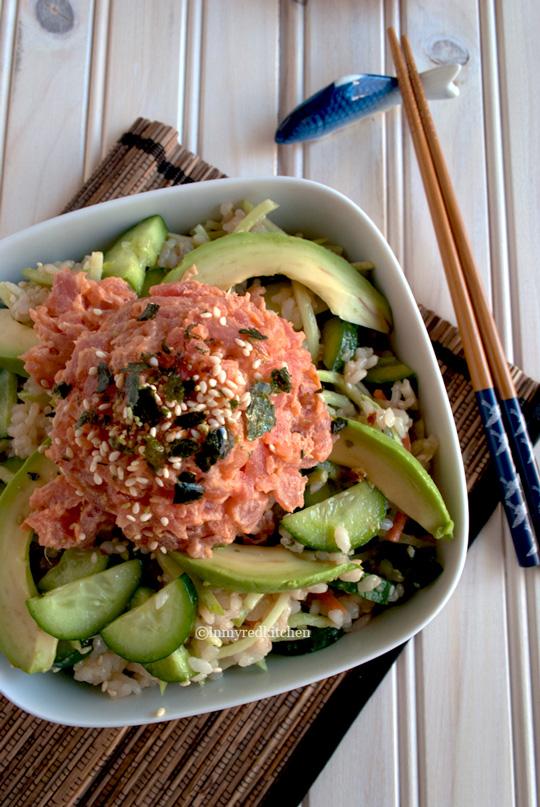 Spicy-tuna-and-cucumber-salad-4-inmyredkitchen