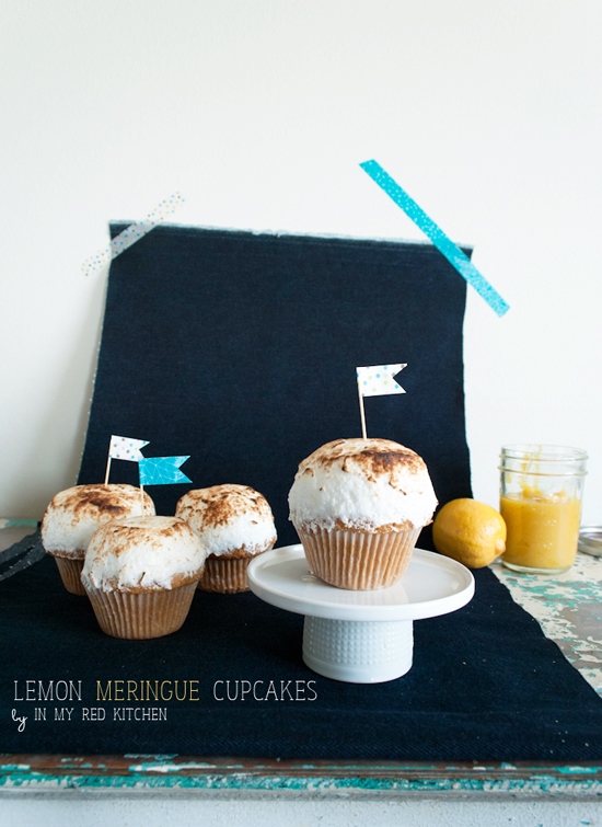 Lemon meringue cupcakes - it's my favorite pie turned into cupcakes! | in my Red Kitchen