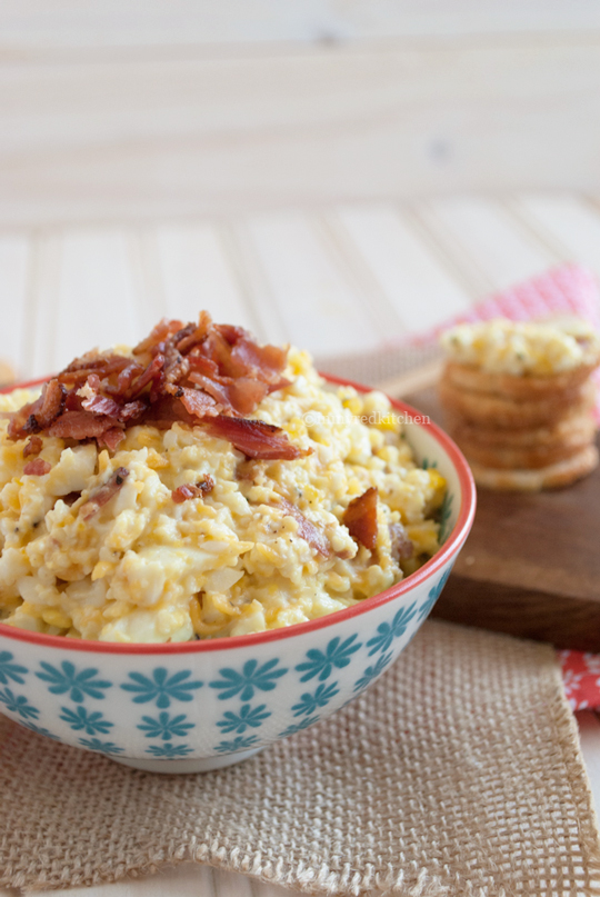 An egg salad with bacon and cheddar - sounds amazing right? | in my Red Kitchen