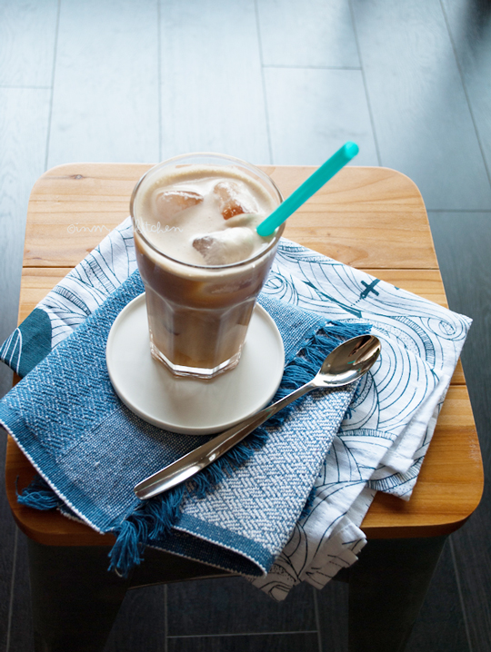 Iced vanilla latte, the best iced coffee and easy to make at home!   in my Red Kitchen