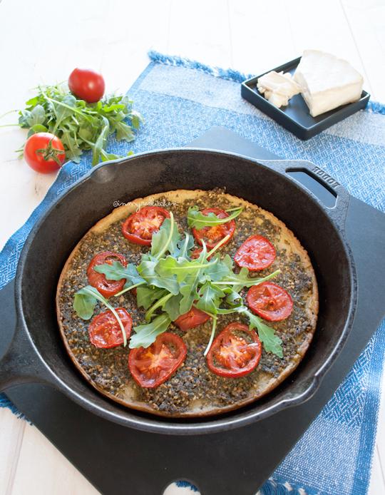 Socca with za'atar parsley pesto   in my Red Kitchen #glutenfree #pizza #chickpeas #socca