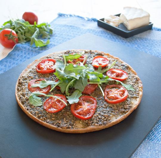 Socca with za'atar parsley pesto