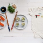 Baby announcement 'in my Red Kitchen' #sushi #baby #babyannouncement