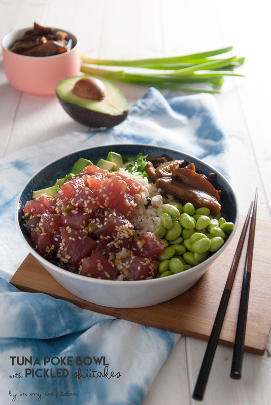 Tuna Poke Bowl With Pickled Shiitakes