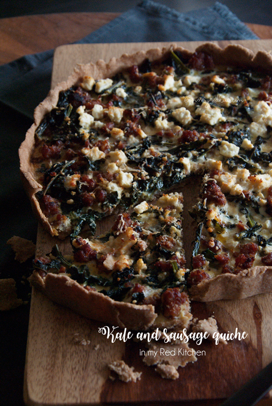 Kale and sausage quiche | in my Red Kitchen