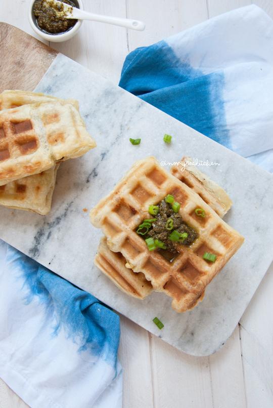 Puff pastry breakfast waffles